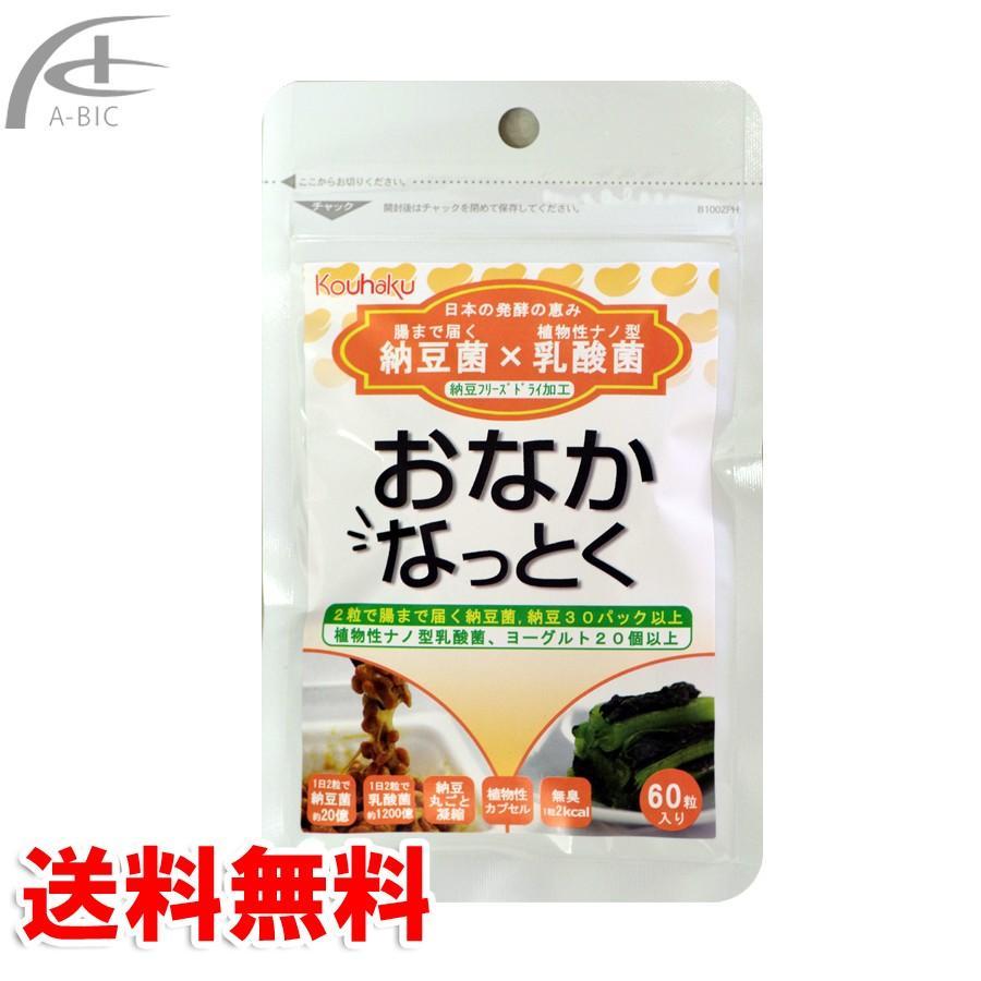 おなかなっとく 60粒 納豆&植物性ナノ型乳酸菌サプリメント(クリックポスト送料無料)|a-bic