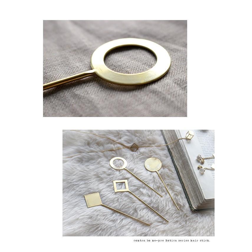 ヘアスティック かんざし  『ロチカ ホール サークル ヘアスティック』簪 一本 シンプル 普段使い ゴールド 和装 留め袖 和 ヘアピン アクセサリー 真鍮 日本製|a-depeche|06