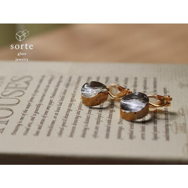 イヤリング sorte glass jewelry イヤリング SGJ-008E ガラスと金の繊細な組み合わせを楽しむイヤリング a-depeche
