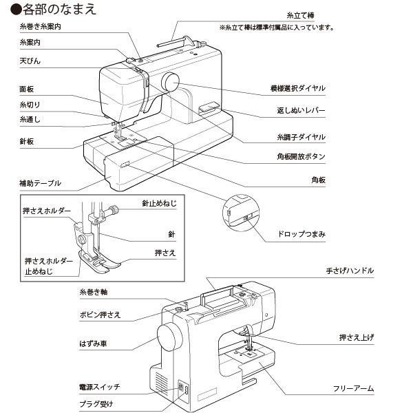 ジャノメ 電動ミシン JN508DX-2B ブラックエディション(黒) 本体 フットコントローラー付き 代金引換不可|a-do|09