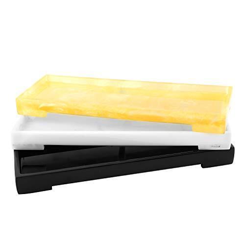 Luxspire 小物トレ 樹脂製 洗面所/浴室/お風呂/キッチン用 おしゃれ スペース節約 化粧品・タオル・ジュエリーな a-genstore 06