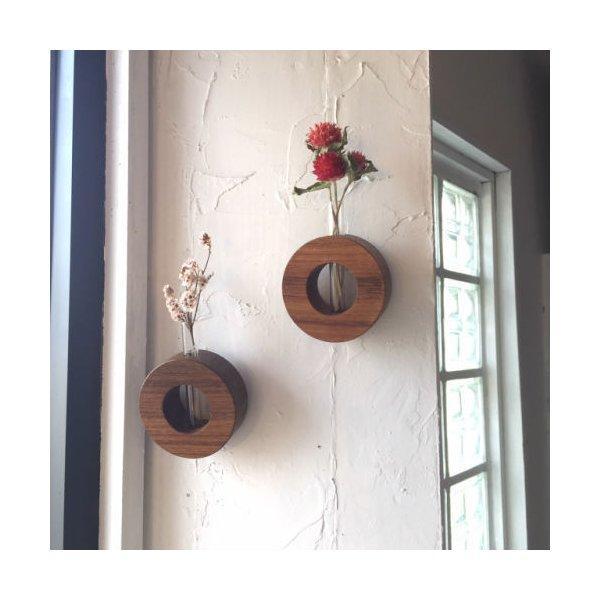 古材一輪挿しラウンドベース 花瓶 送料無料 一輪挿し フラワーベース 訳あり品送料無料 ガラス おしゃれ 試験管 生花 フレーム ドライフラワー かわいい