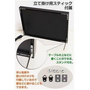 LEDアルミフレームボード Lサイズ 掲示板 電飾 簡単|a-hanet|03