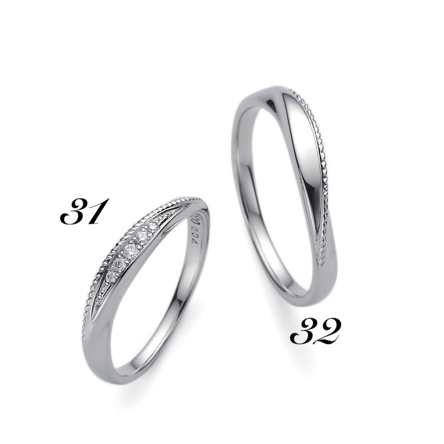 想像を超えての No31 LANVIN ランバン レディース マリッジリング  Pt950 プラチナ ダイヤモンド サファイヤ 保証書付 結婚指輪 指輪 リング, ビストロ みぃーや efcba027