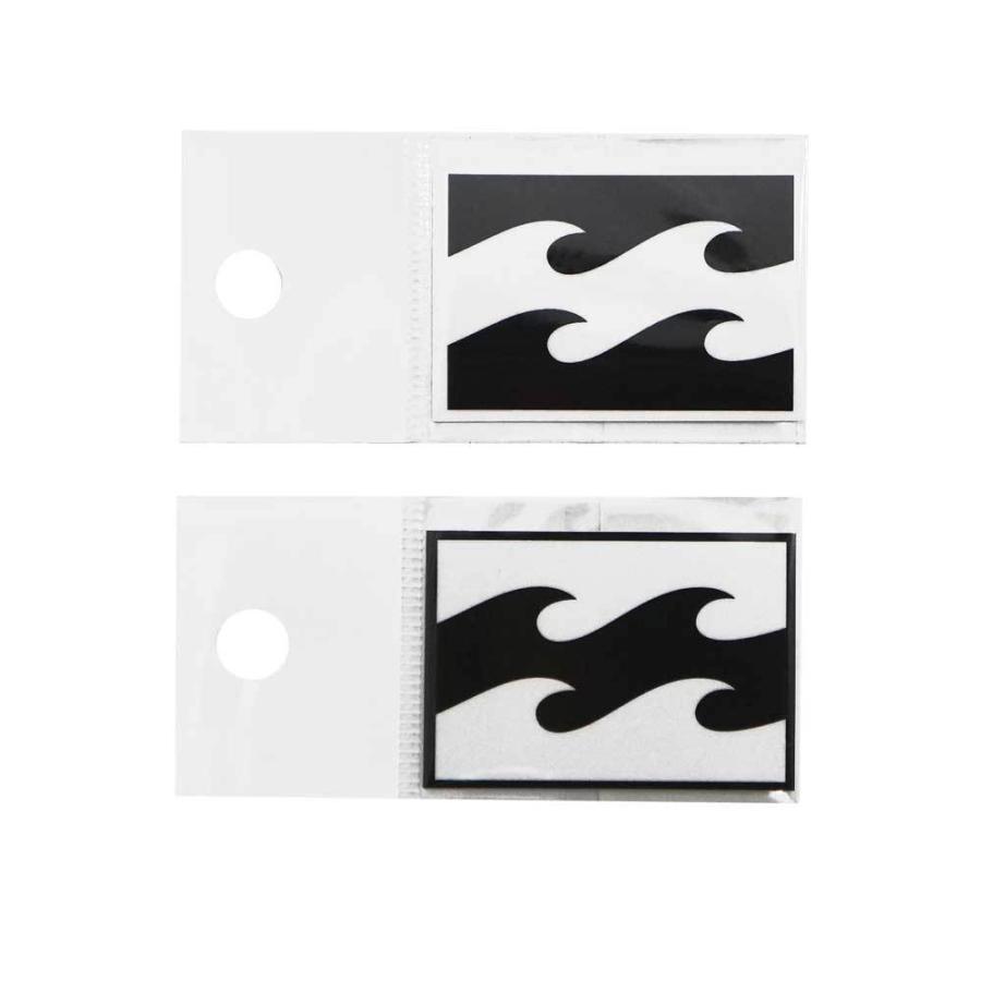 BILLABONG ビラボン B00-S04 W48mm 在庫限り プリントステッカー ブラック シール 波ロゴ ホワイト 正規激安