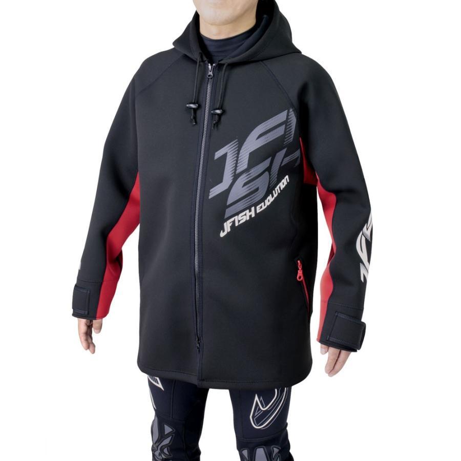 【数量は多】 (J-FISH/ジェイフィッシュ) ツアーコート ハーフ ブラック×レッド JTC-401 ジェットスキー 防寒 コート 2020SS, Switch Stance 1ed6c7ac