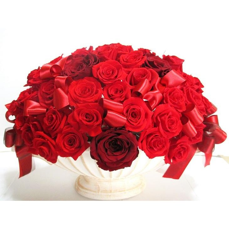 楽屋花 還暦祝い 花 開店祝いフラワーギフト プロポーズ バラ 結婚祝い プレゼント バラ60本 プリザーブドフラワー 赤バラ  開店花 誕生日 記念日