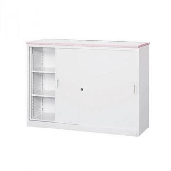 オフィス・店舗向け システムカウンター 書庫型ハイカウンター 鍵付 天板W1200×D450mm オフィス・店舗向け システムカウンター 書庫型ハイカウンター 鍵付 天板W1200×D450mm 代引き不可