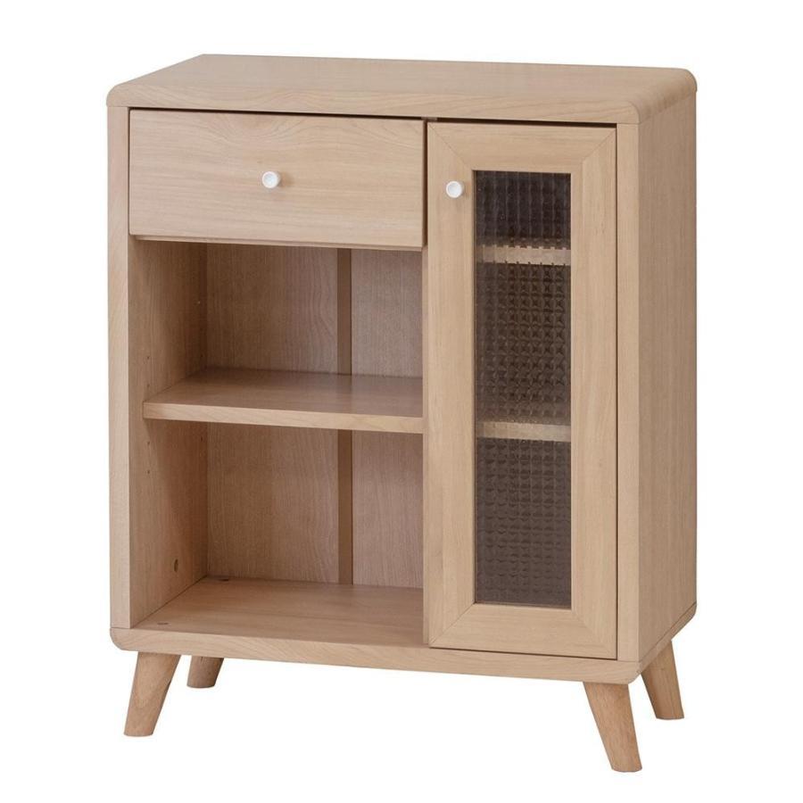 家具 家具 家具 おしゃれ 型板ガラスチュラルナ 引出付キャビネット 82542 代引き不可 e1e