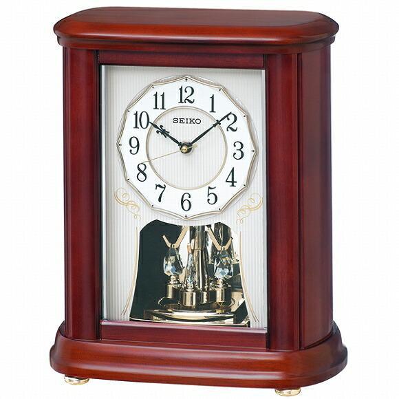 置き時計 おしゃれ 電波時計 セイコー(SEIKO) BY242B アナログ スイープ