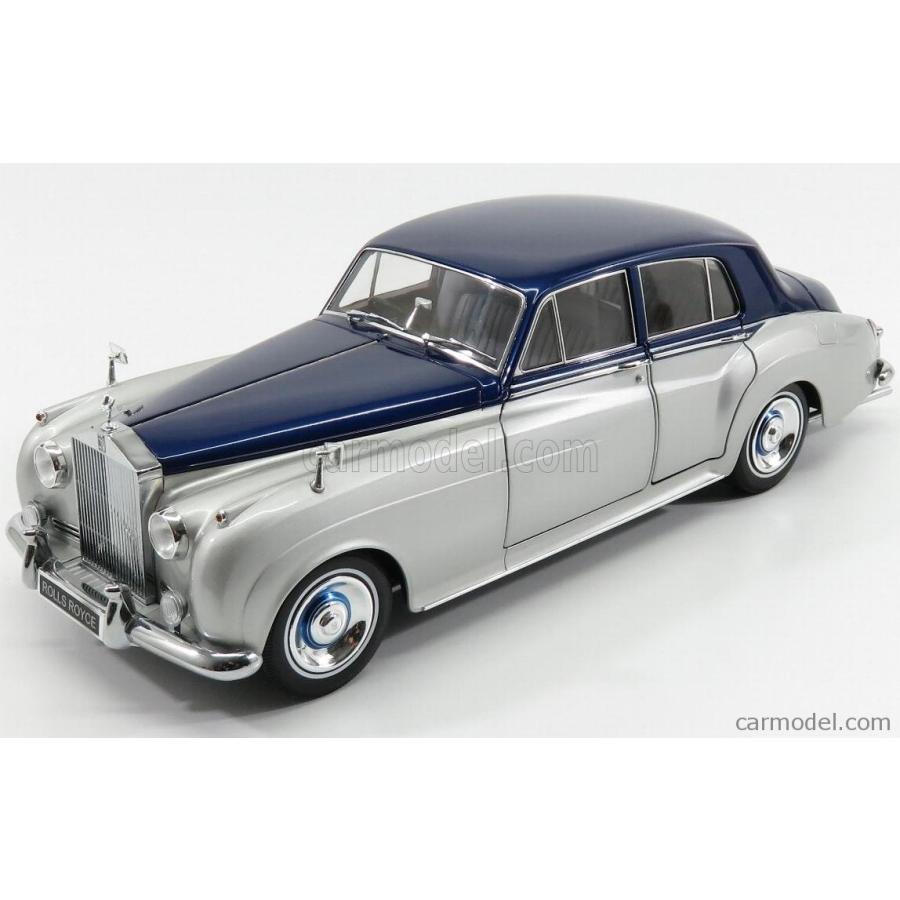 ロールスロイス シルバークラウド ミニカー 1/18 MINICHAMPS ROLLS ROYCE 銀 CLOUD II 1954 銀 青 100134902