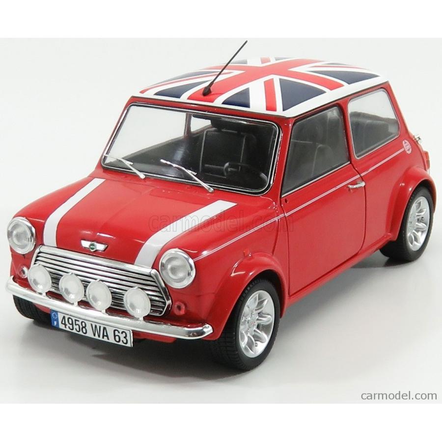 ミニクーパー 1.3i ミニカー 1/18 SOLIDO MINI COOPER 1.3i SPORT PACK WITH ENGLISH FLAG 1997 赤 白い 青 1800604