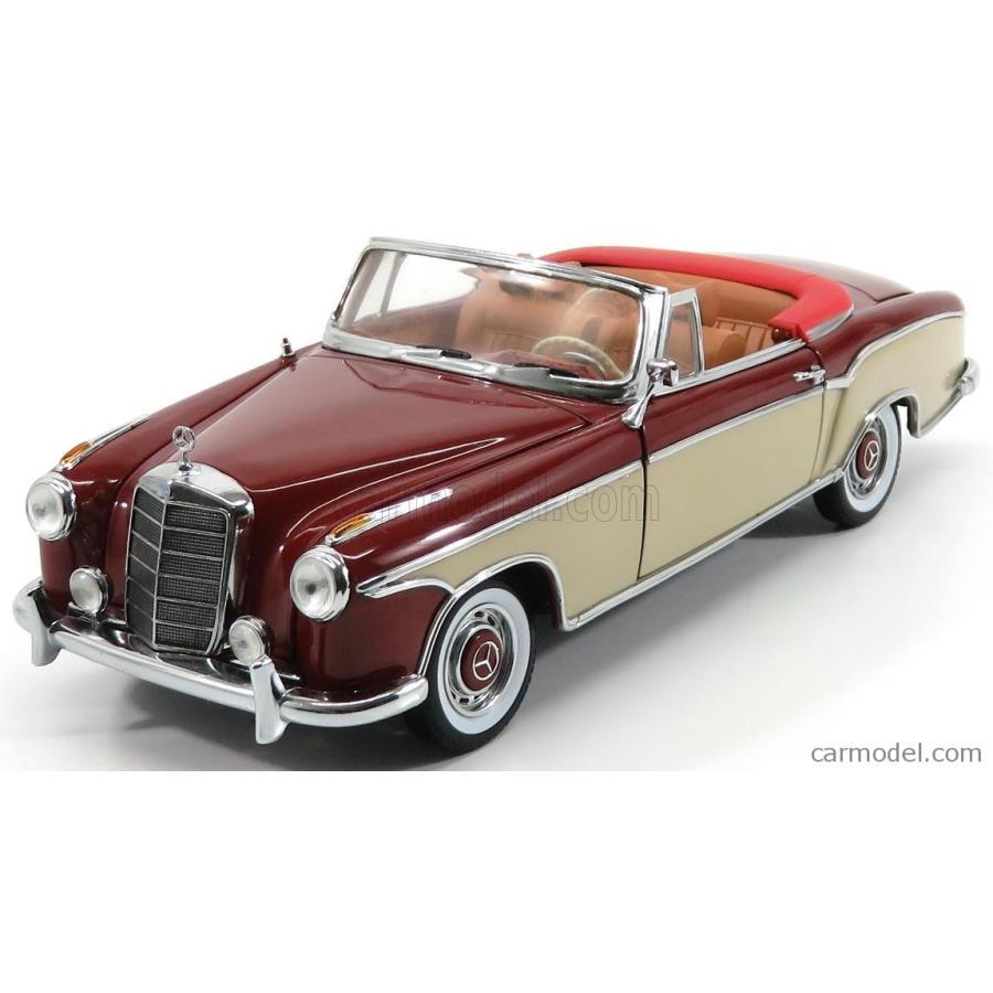 メルセデス ベンツ 220SE ミニカー 1/18 SUN-STAR MERCEDES BENZ 220SE CABRIOLET OPEN 1958 赤 CREAM 03556