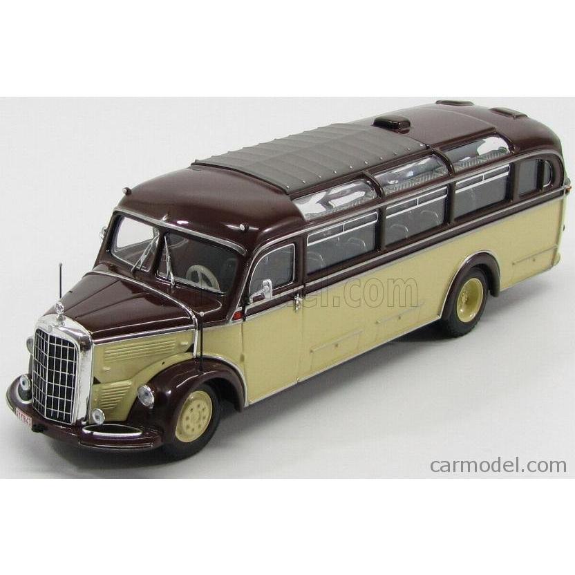 メルセデス ベンツ O3500 バス 1/43 MINICHAMPS MERCEDES BENZ O3500 AUTOBUS 1950 IVORY 褐色 439360010