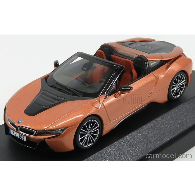BMW i8 ハイブリッド ミニカー 1/43 PARAGON-MODELS BMW i8 HYBRID SPIDER 2018 COPPER MET 80422454785