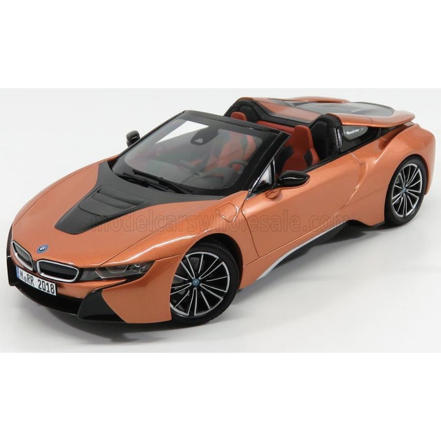 BMW i8 ハイブリット ミニカー 1/18 MINICHAMPS BMW i8 HYBRID SPIDER 2018 COPPER MET 80432454784