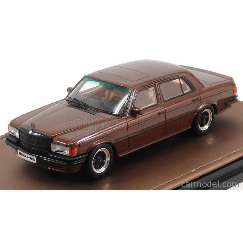 メルセデス ベンツ Sクラス AMG W116 ミニカー 1/43 GLM-MODELS MERCEDES BENZ S-CLASS AMG W116 6.9 1978 褐色 MET GLM206002