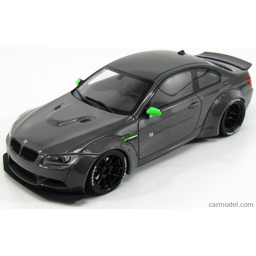 BMW 3シリーズ M3 ミニカー 1/18 GT-SPIRIT BMW 3-SERIES M3 E92 LB PERFORMANCE 2012 グレー GT127