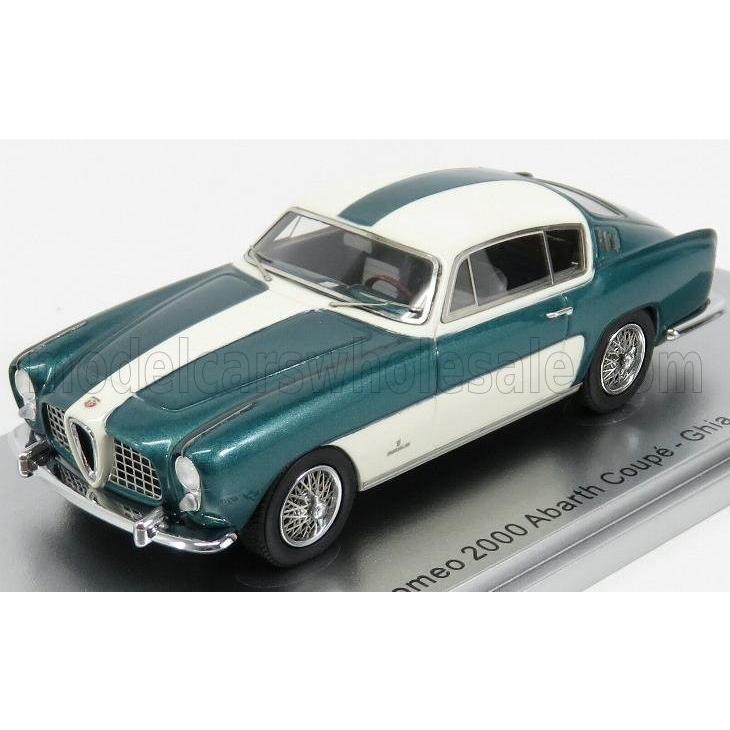 アルファロメオ 2000 アバルト ミニカー 1/43 KESS-MODEL ALFA ROMEO 2000 ABARTH COUPE 1954 緑 MET 白い KE43000260
