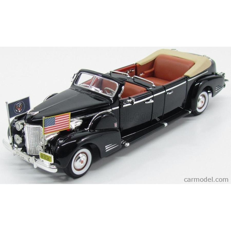 キャデラック プレジデント リムジン ルーズベルト 1938 ミニカー 1/24 LUCKY-DIECAST CADILLAC V16 PRESIDENTIAL LIMOUSINE CABRIOLET ROOSEVELT 1938 黒