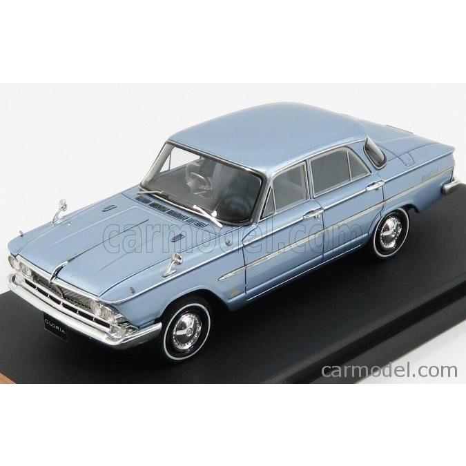 ニッサン プリンス グロリア ミニカー 1/43 MARK43 NISSAN PRINCE GLORIA SUPER 6 S41D 1962 SAN MARINO 青 MET PM4318BL