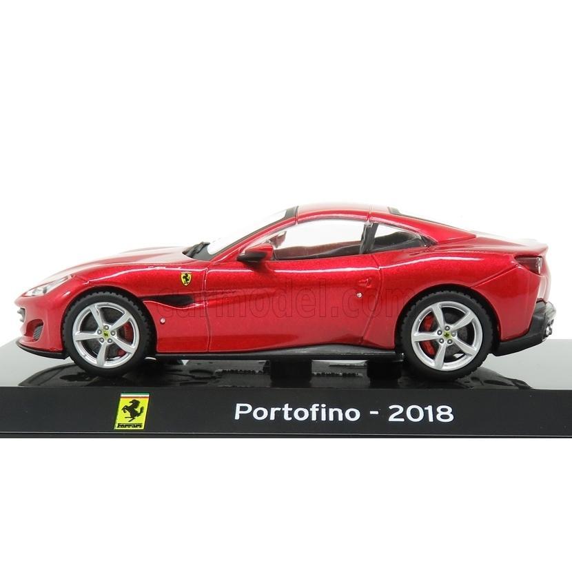 Ferrari Portofino 2018 With Showcase Red Met EDICOLA 1:43 SUPCARCOLL008