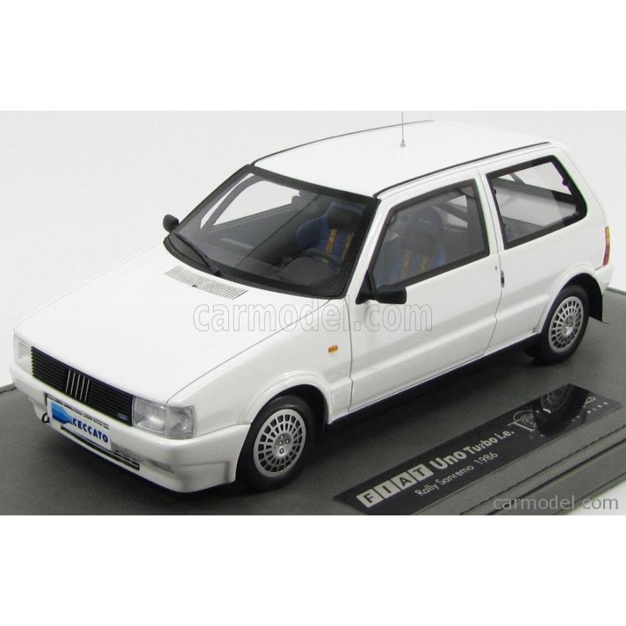 ミニカー 1/18 フィアット UNO TOPMARQUES FIAT UNO TURBO i.e. TOTIP CECCATO JOLLY CLUB N 0 RALLY SANREMO 1986 - BASE IN PELLE 白い TOP007AP
