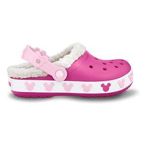 クロックス クロックバンド マンモス キッズ ミッキー crocs crocband mammoth kids mickey/ボア ファー 冬物 子供靴 ディズニー/在庫処分 店頭戻り品 a-outlet
