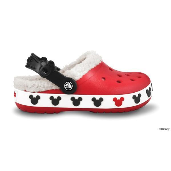 クロックス クロックバンド マンモス キッズ ミッキー crocs crocband mammoth kids mickey/ボア ファー 冬物 子供靴 ディズニー/在庫処分 店頭戻り品 a-outlet 06