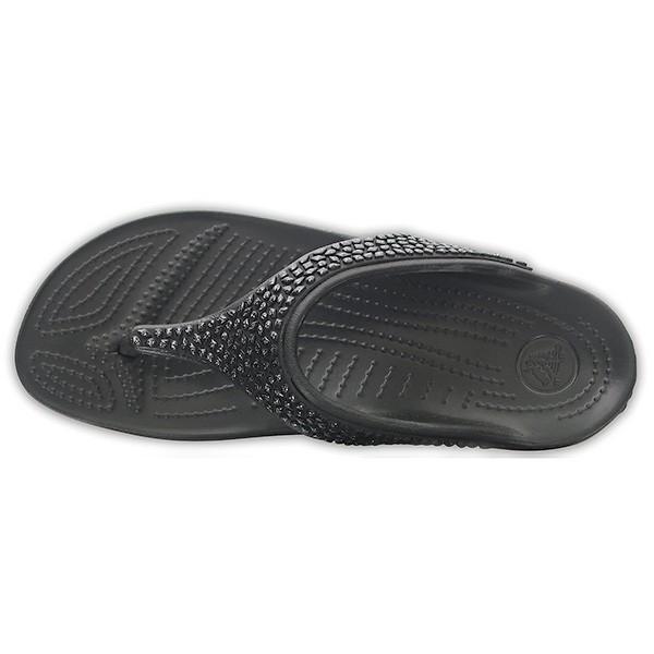 クロックス スローン エンベリッシュド フリップ ウィメン crocs sloane embellished flip w/在庫処分 店頭戻り品|a-outlet|04