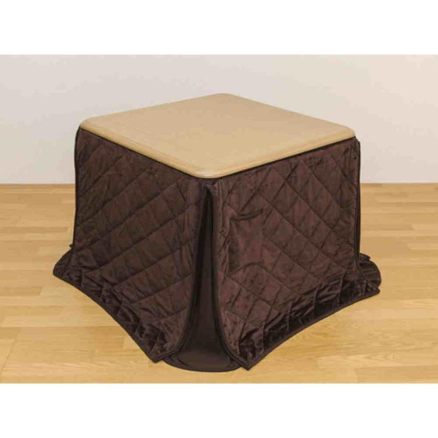 [送料無料・カード・前払限定]ダイニングコタツ正方形85cmと掛け布団セット*NA*冬はこたつ、夏はダイニングテーブルに使用可