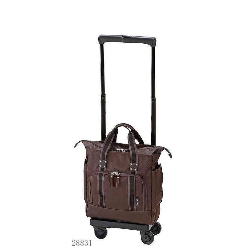 「支えるバッグ・スワニー」D-288 ティノ・サコII(M18) キャリーバッグ・ブラウン・サイズ高さ43X横31X奥行18cm