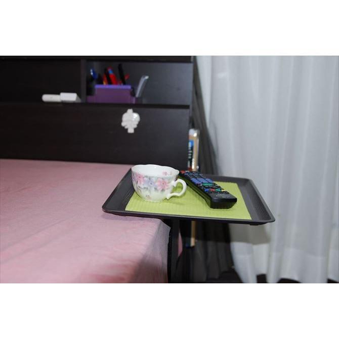 「リモて」グレーの木目(大サイズ)(ベッド用サイドテーブル) a-pi 09