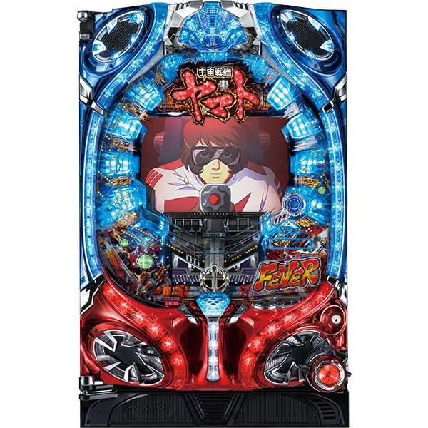 SANKYOCRフィーバー宇宙戦艦ヤマト『ノーマルセット』[パチンコ実機][家庭用電源/音量調整/ドアキー/取扱い説明書付き〕[中古]