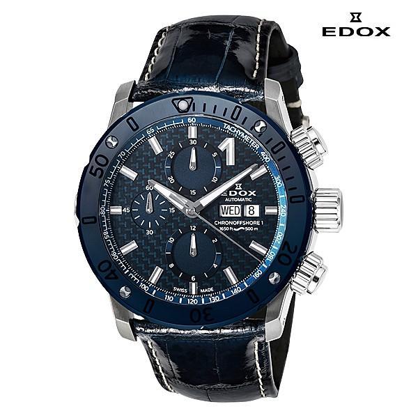 エドックス EDOX  クロノオフショア1 クロノグラフ 01122-3BU3-BUIN3-L 機械式(自動巻き)腕時計|a-spiral