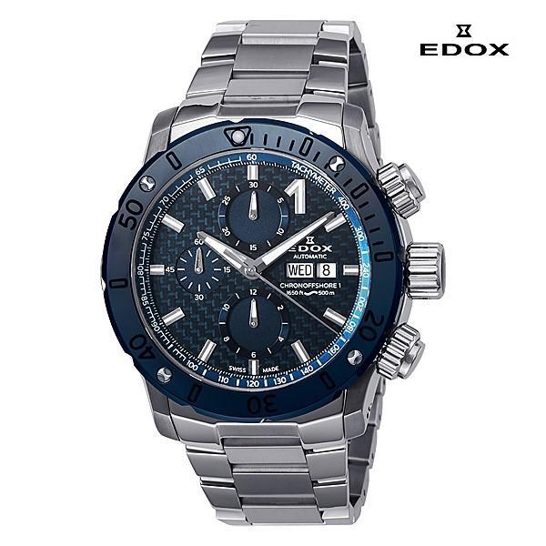 エドックス EDOX  クロノオフショア1 クロノグラフ 01122-3BU3-BUIN3 機械式(自動巻き)腕時計|a-spiral