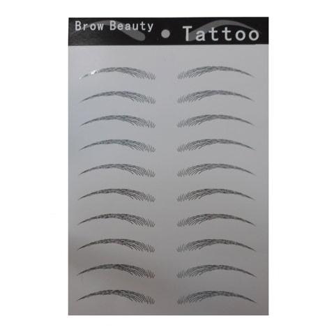 眉シール (プチ アートメイク) 眉毛シール ナチュラルアーチ 100枚セット