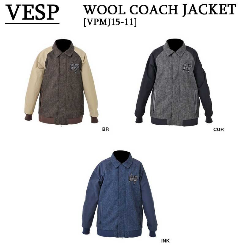 15-16 VESP ウェア ベスプ コーチジャケット スノーボードウェア WOOL COACH JACKET VPMJ15-11 旧品 型落ち