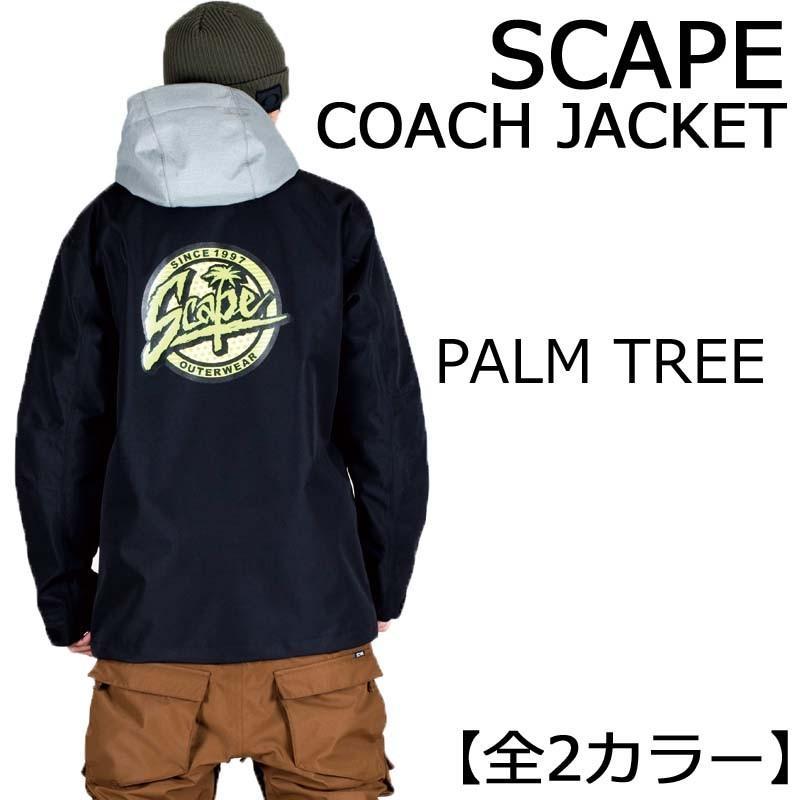 17-18 エスケープ SCAPE COACH JACKET コーチジャケット COACH PALM TREE スノーボードウェア SNOWBOARD WEAR コーチジャケット