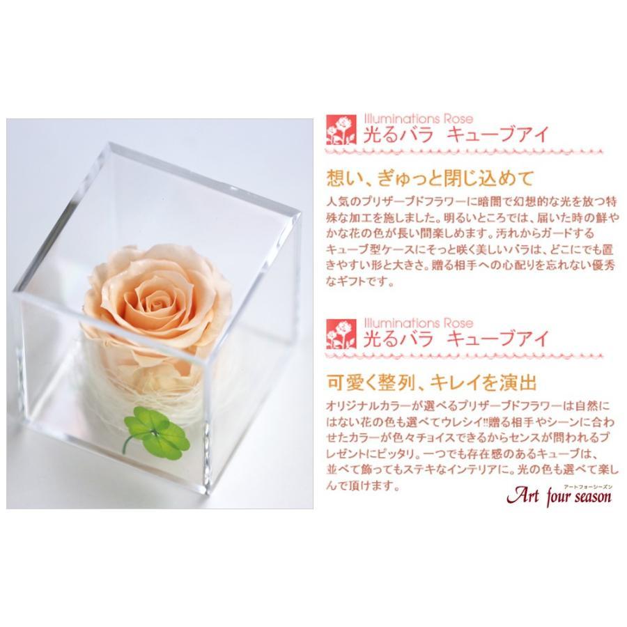 プリザーブドフラワー  誕生日 プレゼント 「キューブ」 光るバラ 花 ギフト 名入り 誕生日プレゼント 還暦祝い 女性 結婚記念日 退職祝い|a4s|14