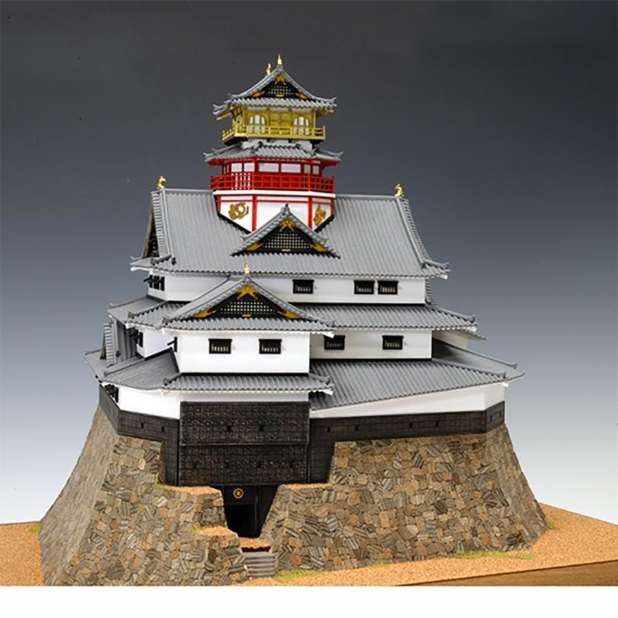ウッディジョー/木製建築模型 1/150安土城・天守閣