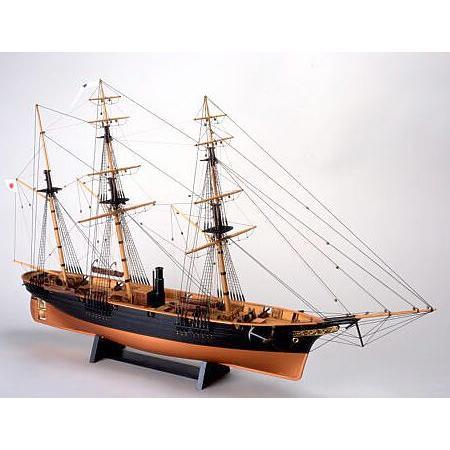 ウッディジョー/木製帆船模型 1/75咸臨丸[帆なし・停泊]