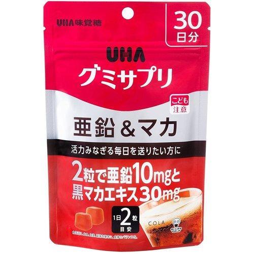 UHA グミサプリ 亜鉛 マカ 60粒 高額売筋 30日分 UHA味覚糖 入荷予定