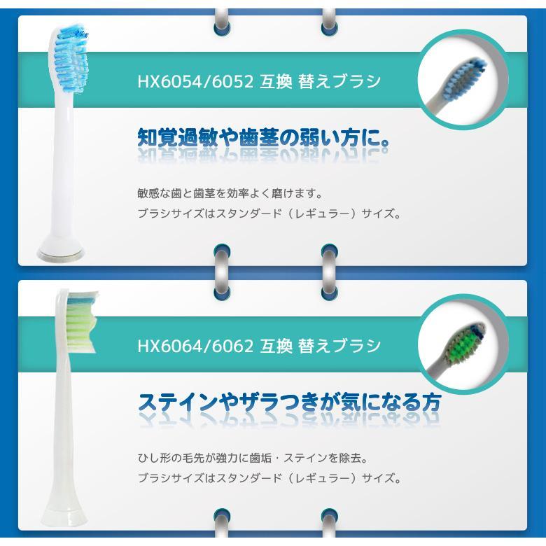 ブラウン オーラルB・フィリップス ソニッケアー 電動歯ブラシ対応 互換替え ブラシヘッド 自由に選べる 2パック 福袋 よりどり|aashop|05