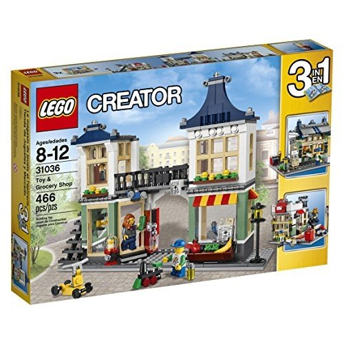 レゴLEGO Creator 31036 Toy and Grocery Shop, 3-in-1 Building Toy Set (Toy Store, Grocery Shop, or Newspaper Stand / Post Office)