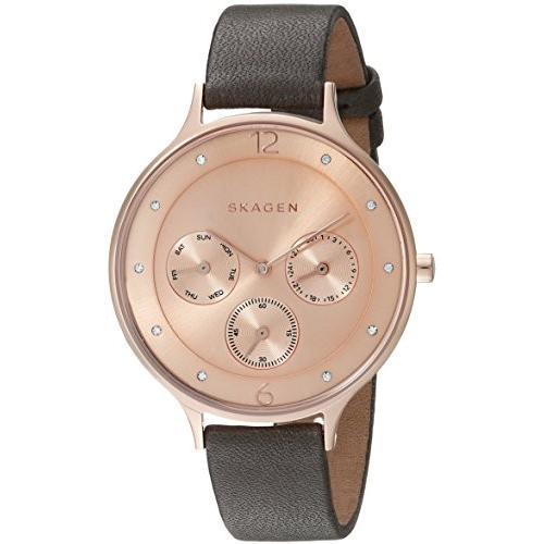 【特別セール品】 SKW2392 Skagen stainless-steel Skagen SKW2392 Women's Leather SKW2392 Anita Grey Leather Watch, シンジョウシ:44ea1481 --- airmodconsu.dominiotemporario.com