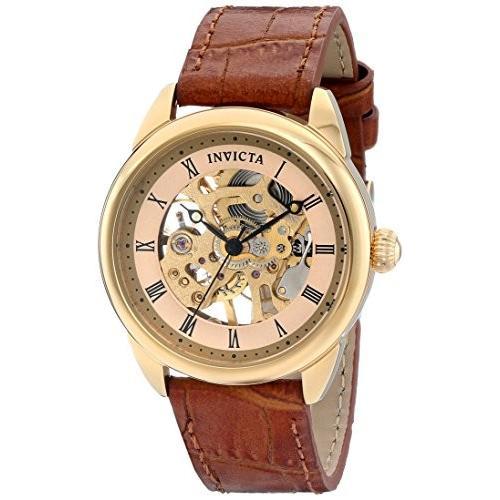驚きの価格が実現! 17197 Brown Standard Invicta Analog Women's 17197 Mechanical Specialty Analog Display Mechanical Hand Wind Brown Watch, 再再販!:aaa4b59a --- airmodconsu.dominiotemporario.com