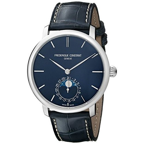 公式の  FC705N4S6 Stainless Frederique Watch Constant Men's FC705N4S6 Slim Line Slim Stainless Steel Watch, 下田町:c8e35ab5 --- airmodconsu.dominiotemporario.com