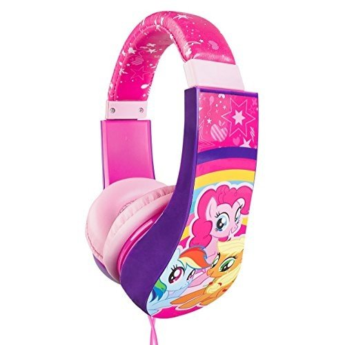 30357-TRU My Little Pony 30357 Kid Safe Over the Ear Cushioned Headphone w/Volume Limiter, 3.5MM Stereo Jack ピンク Rainbow Horses E