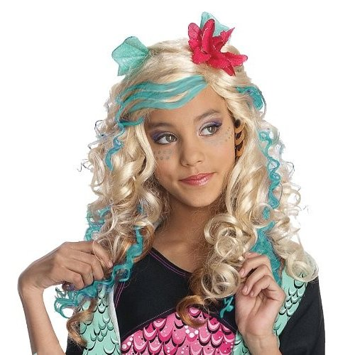 52573 One Size Monster High Child's Lagoona 青 Costume Wig